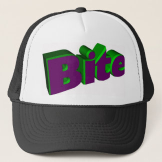 The verb Bite Trucker Hat