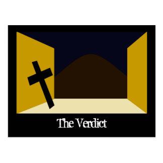 The Verdict Postcard