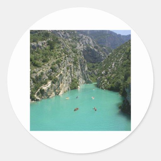 The Verdon Gorge Classic Round Sticker