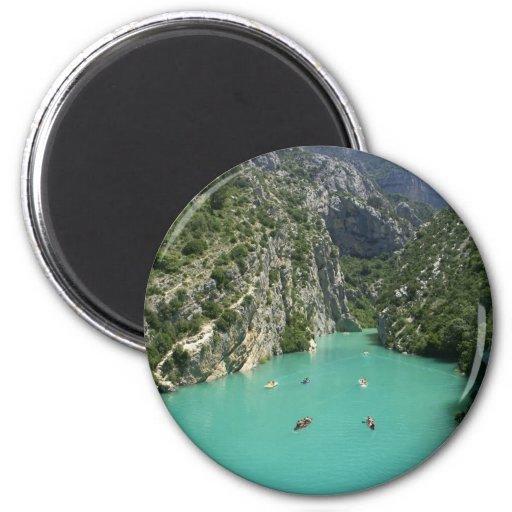 The Verdon Gorge Refrigerator Magnets