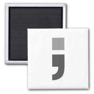 The versatile semicolon 2 inch square magnet