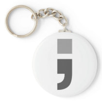 The versatile semicolon keychain
