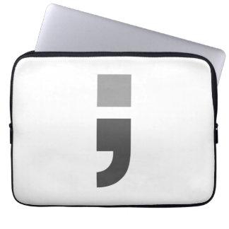 The versatile semicolon laptop sleeves