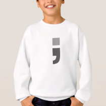 The versatile semicolon sweatshirt