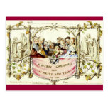 The Very First Christmas Card (1843) Postcard