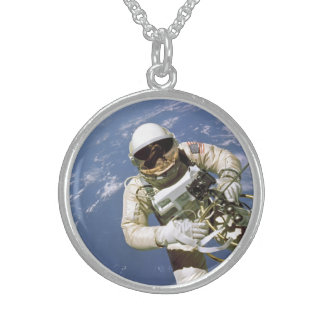 The Very First U.S. Spacewalk - June 3rd, 1965 Sterling Silver Necklace