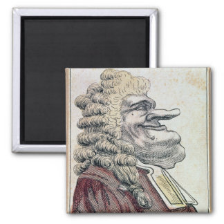 The very honourable Edmund Burke0 2 Inch Square Magnet