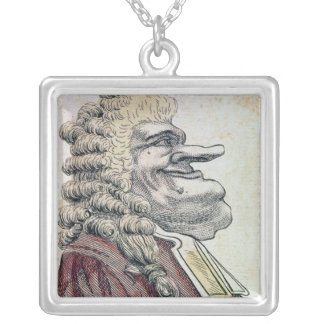 The very honourable Edmund Burke0 Square Pendant Necklace
