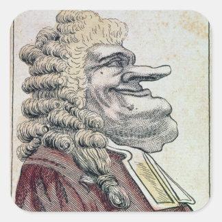 The very honourable Edmund Burke0 Square Sticker