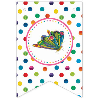 The Very Hungry Caterpillar Butterfly Birthday Bunting Flags