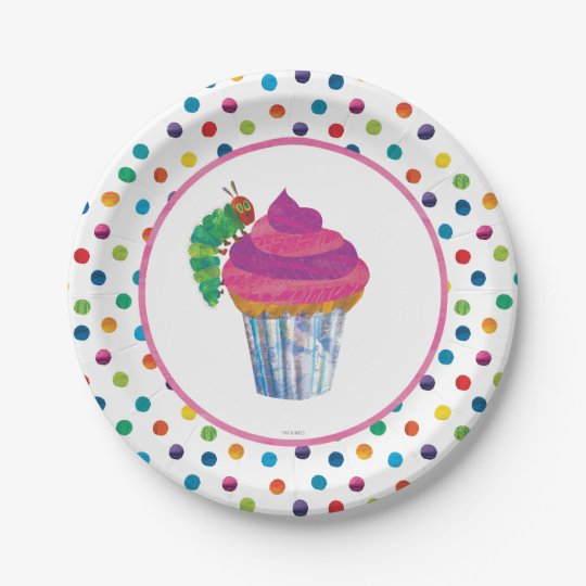 The Very Hungry Caterpillar Butterfly Birthday Paper Plate | Zazzle.com
