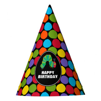 The Very Hungry Caterpillar Chalkboard Birthday Party Hat