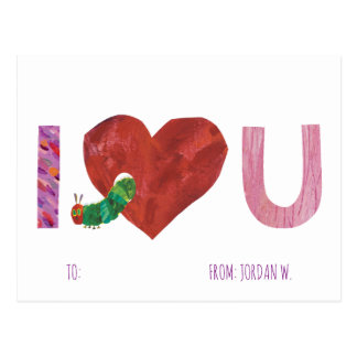 The Very Hungry Caterpillar | I Heart You Postcard