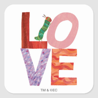 The Very Hungry Caterpillar | LOVE Square Sticker
