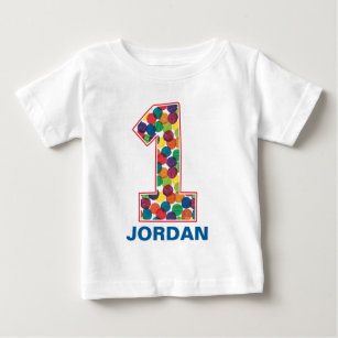 The Very Hungry Caterpillar Polka Dot 1st Birthday Baby T Shirt