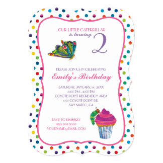 The Very Hungry Caterpillar Second Birthday Card