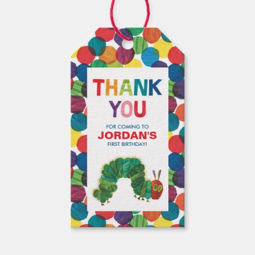 The Very Hungry Caterpillar Thank You Gift Tags
