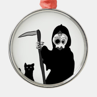 The very small death The little grim to reaper Metal Ornament