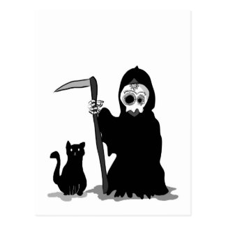 The very small death The little grim to reaper Postcard