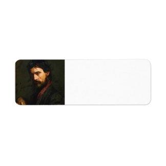 The Veteran by Thomas Eakins Label