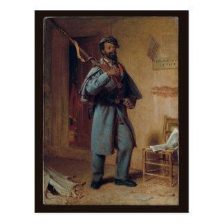 The Veteran, Wood - Civil War African American Postcard