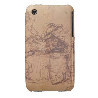 The Vices of the Prodigal Son (pen and ink on pape iPhone 3 Case-Mate Case