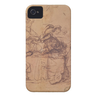 The Vices of the Prodigal Son (pen and ink on pape iPhone 4 Case-Mate Case