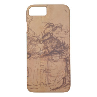 The Vices of the Prodigal Son (pen and ink on pape iPhone 7 Case