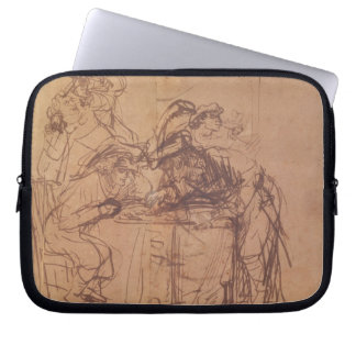 The Vices of the Prodigal Son (pen and ink on pape Laptop Sleeve