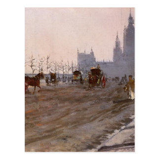 The Victoria Embankment, London by Giuseppe Postcard