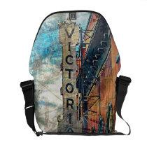 artsprojekt, victoria, from, urinetown, missiondistrict, sfc, sanfrancisco, Rickshaw messenger bag with custom graphic design