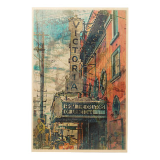 The Victoria From UrineTown MissionDistrict sfc Wood Wall Art