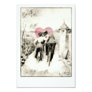The Victorian Bicycle Lovers 3.5x5 Paper Invitation Card