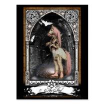 The Victorian Fool Tarot Card Postcard
