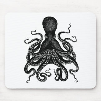The Victorian Octopus Mouse Pad