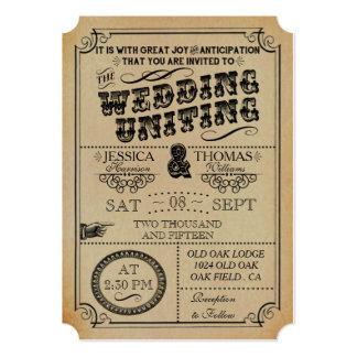 The Victorian Steampunk Wedding Collection 5x7 Paper Invitation Card