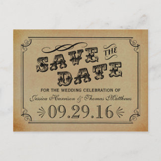 The Victorian Steampunk Wedding Collection Announcement Postcard
