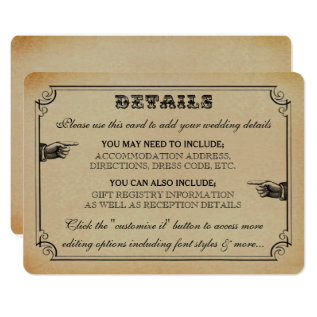 The Victorian Steampunk Wedding Collection Card at Zazzle