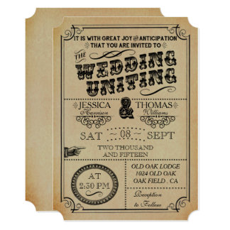 The Victorian Steampunk Wedding Collection Invitation