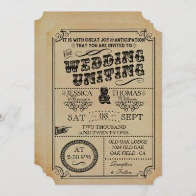 The Victorian Steampunk Wedding Collection Invitation