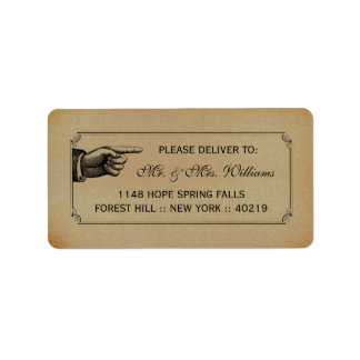 The Victorian Steampunk Wedding Collection Label