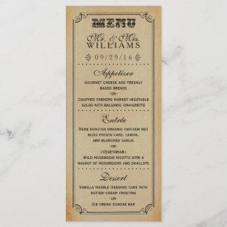 The Victorian Steampunk Wedding Collection Menu