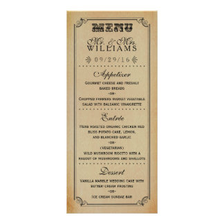 The Victorian Steampunk Wedding Collection Rack Card