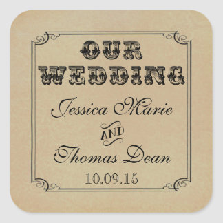The Victorian Steampunk Wedding Collection Square Sticker