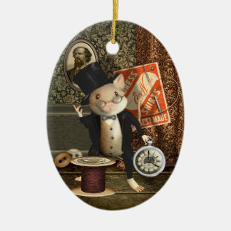 The Victorian Tailor Mouse Personalized Ceramic Ornament