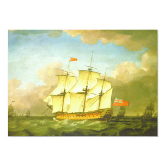 The Victory Leaving the Channel in 1793 by Swaine 5x7 Paper Invitation Card