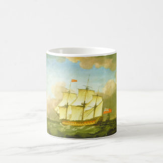 The Victory Leaving the Channel in 1793 by Swaine Coffee Mug