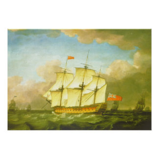 The Victory Leaving the Channel in 1793 by Swaine Posters