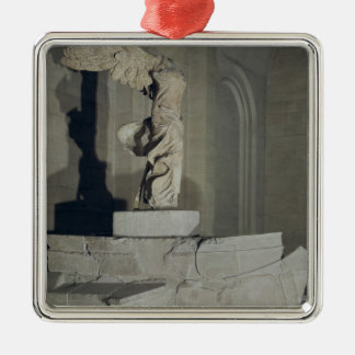 The Victory of Samothrace Square Metal Christmas Ornament
