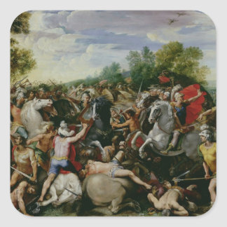 The Victory of Tullus Hostilius Square Sticker